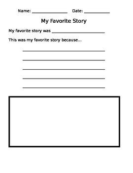 My Favorite Story (1st Grade)