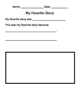 My Favorite Story (Kindergarten/Beginners)