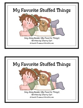 My Favorite Stuffed Things Guided Reader for Christmas