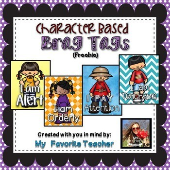 Firstie for Learning - Character Based Brag Tags Freebie