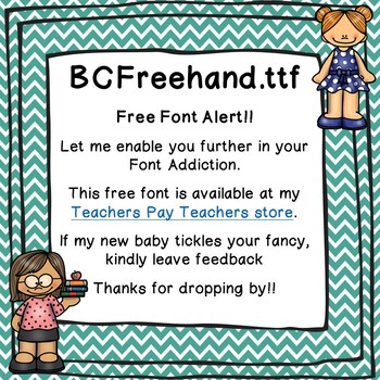 My Favorite Teacher - Freehand Font - Free for Personal & Commercial Use