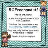 Firstie for Learning - Freehand Font - Free for Personal &
