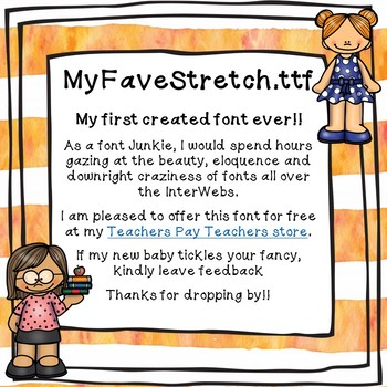 "My Favorite Teacher - ""Stretch"" Free Font - (Personal and Commercial Use)"