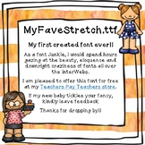 """Firstie for Learning - """"Stretch"""" Free Font - (Personal and"""