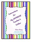 My Favorite Teacher's Folder
