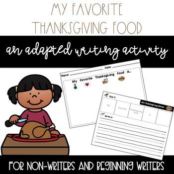 My Favorite Thanksgiving Food: cutting and paste worksheet