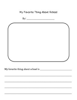 My Favorite Thing About School