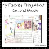My Favorite Thing About Second Grade {End of the Year Writing}