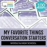 My Favorite Things : 100 Icebreaker Questions