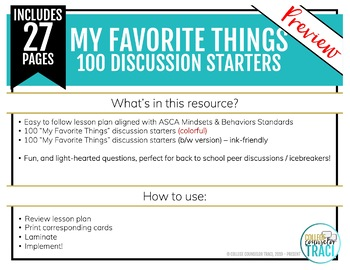My Favorite Things : 100 Icebreaker Questions