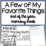 My Favorite Things About the Year Writing Book