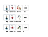 My Favorite Things Activity - Complete the Sentence Visual