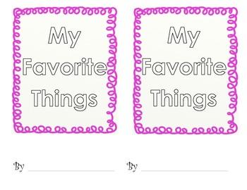 My Favorite Things Book