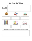 My Favorite Things - Kindergarten Interview