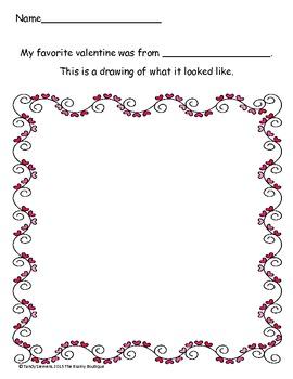 My Favorite Valentine Activity