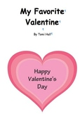 My Favorite Valentine Story Black & White for Coloring