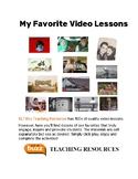 My Favorite Video Lessons