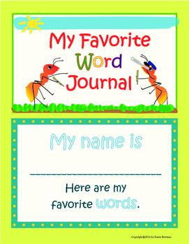 My Favorite Word Journal