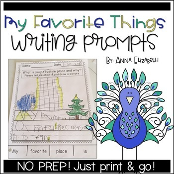 My Favorite Things Writing Prompts