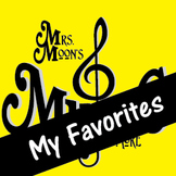 Mrs. Moon's Music: Add-a-long Songs: My Favorites