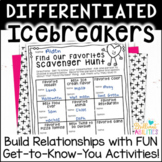 Back to School Icebreakers Getting-to-Know-You Activities