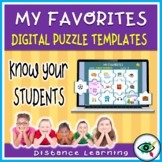 Puzzle templates in PowerPoint for distance learning activity