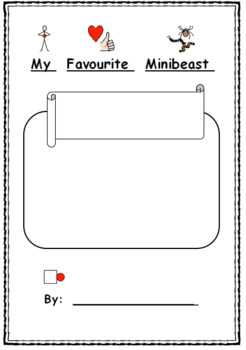 My Favourite Minibeast Writing Booklet