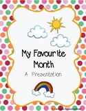My Favourite Month - Poster Presentation