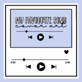 My Favourite Song Cover Art | Music Template