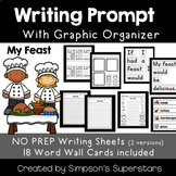 My Feast Writing Prompt with Word Wall Cards