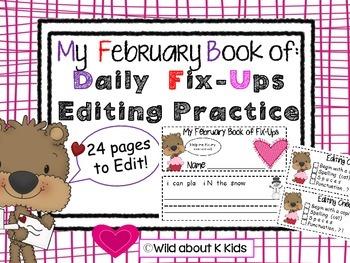 My February Mini Book of Editing Practice
