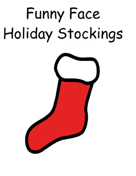 My Feeling Stockings: A math, vocabulary and feelings lesson (SPEECH< CHRISTMAS