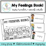 Mini Book - My Feelings Book and Word Wall Cards *VIC, QLD, NSW and Print Font*