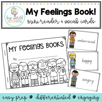 My Feelings Book and Word Wall Words! (My Emotions Book)