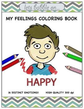 My Feelings Coloring Book