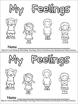 Wild image with feelings book printable