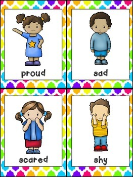My Feelings Emergent Reader for Kindergarten.. All About Me theme- Level B