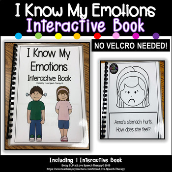My Feelings/Emotions Book - NO VELCRO NEEDED
