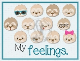 My Feelings - English 12 Poster Set - Color - Silly Sloth'