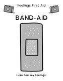 My Feelings First Aid Kit Student Coloring Page: Band-Aids