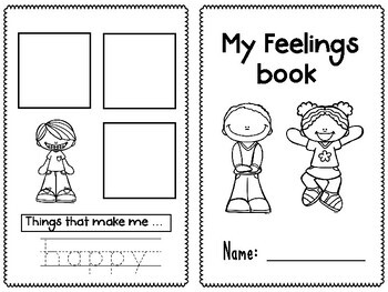 Satisfactory image with regard to feelings book printable