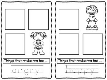 It is a photo of Gorgeous Feelings Book Printable