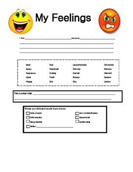 My Feelings Worksheet