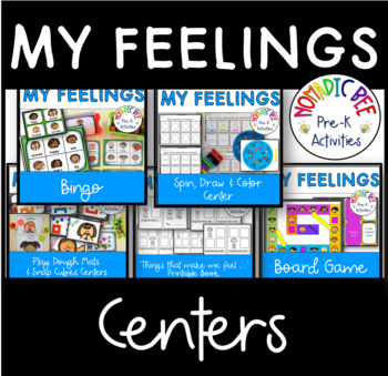 My Feelings Printable Center Activities and Worksheets