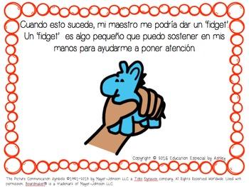 My Fidget-Social Story in Spanish & English