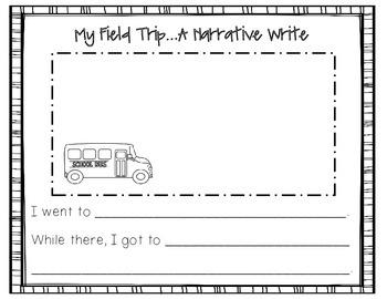 """My Field Trip"" A Narrative Writing Activity {FREEBIE}"