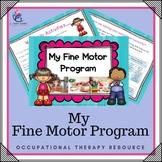 My Fine Motor Program Workbook - Occupational Therapy - kindergarten