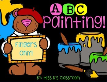 ABC, 123 Painting! Fingers Only! FREEBIE