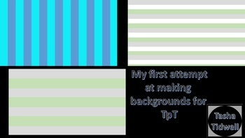 My First 3 Backgrounds [[Freebie]]