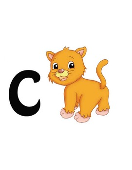 My First Alphabet eBook: PDF with cute ABC pics for letter recognition